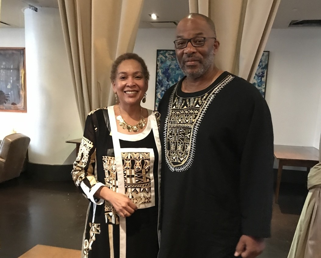 La-Verna Fountain, Vice President for Strategic Communications and Construction Business Initiatives, with her husband James at the Harlem Business Alliance awards ceremony on May 3, 2017.