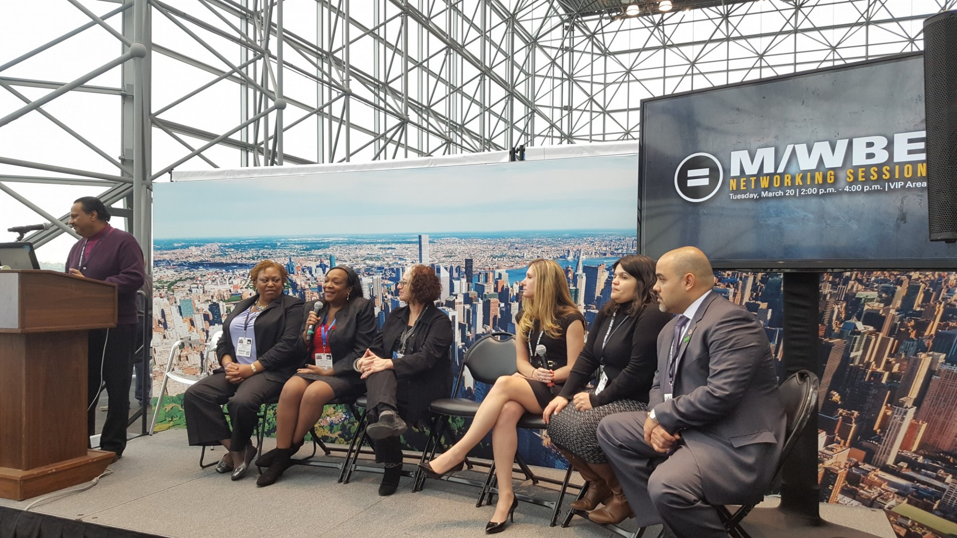 Tanya Pope, second from left, at New York Build