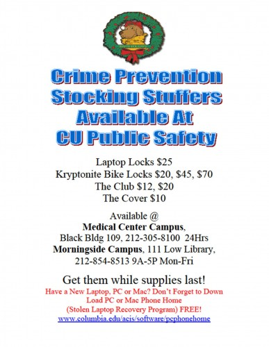 Crime Prevention Holiday Gifts