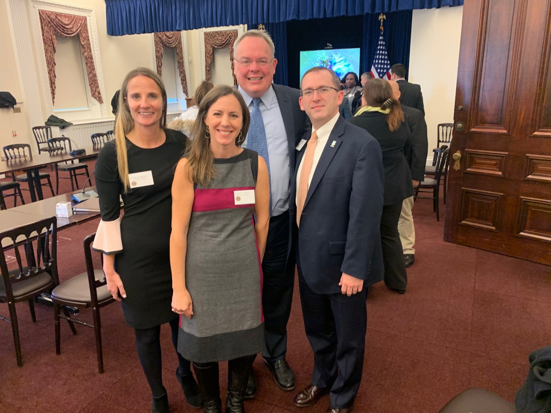 From left to right: Dr. Melanie Bernitz, Columbia Health, Dr. Rachel Shelton, Columbia School of Public Health, Director Jim Carroll, ONDCP, and Dr. Michael McNeil, Columbia Health