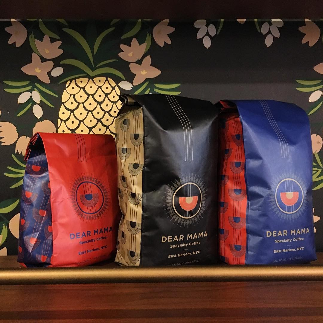 Bags of Dear Mama Coffee