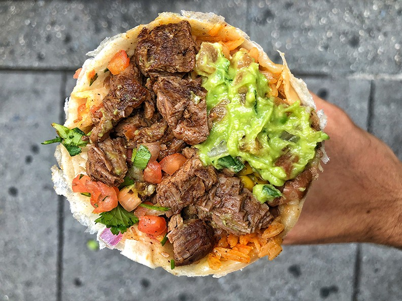 A Dos Toros Steak Burrito
