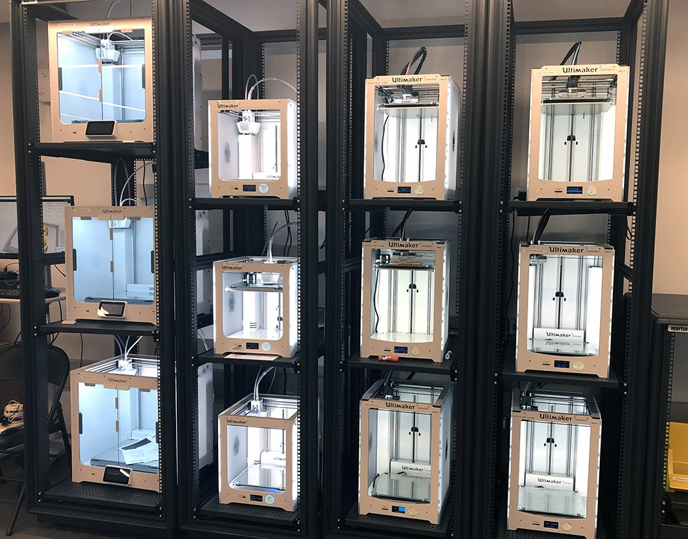New 3D printers at the Innovation Foundry.