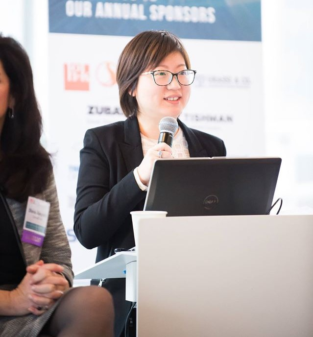 Kim Chen, associate director for project management, speaking at an industry panel on Jan. 24, 2017.