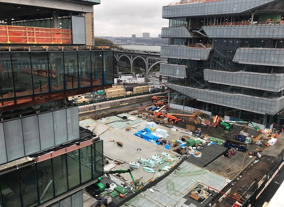 A view of the Columbia Business School construction site