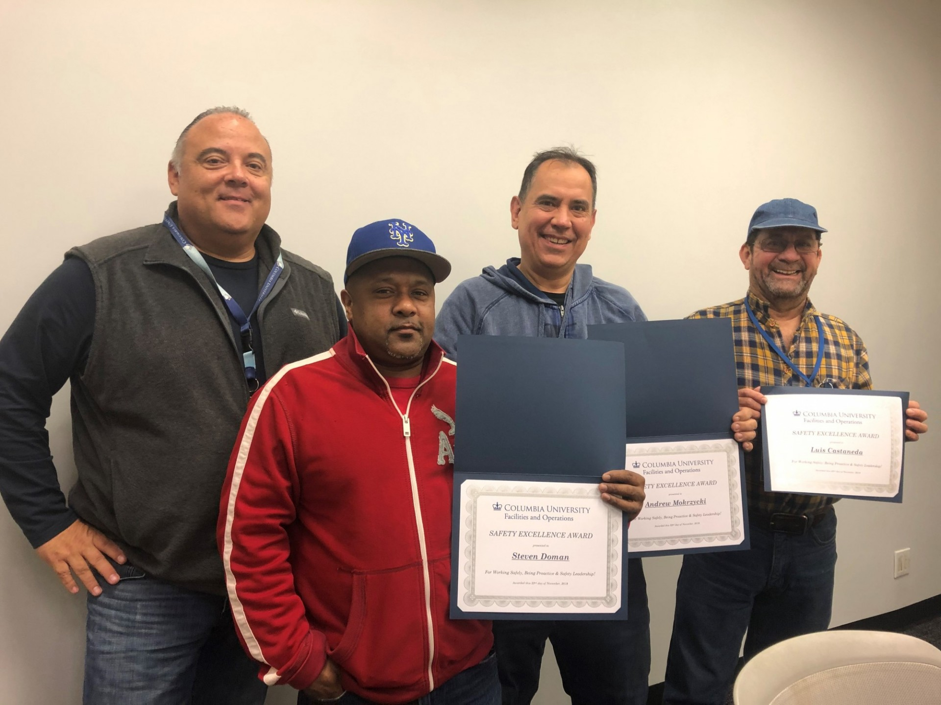 Honorees at the 2019 Safety Excellence Awards Ceremony at the Morningside Campus