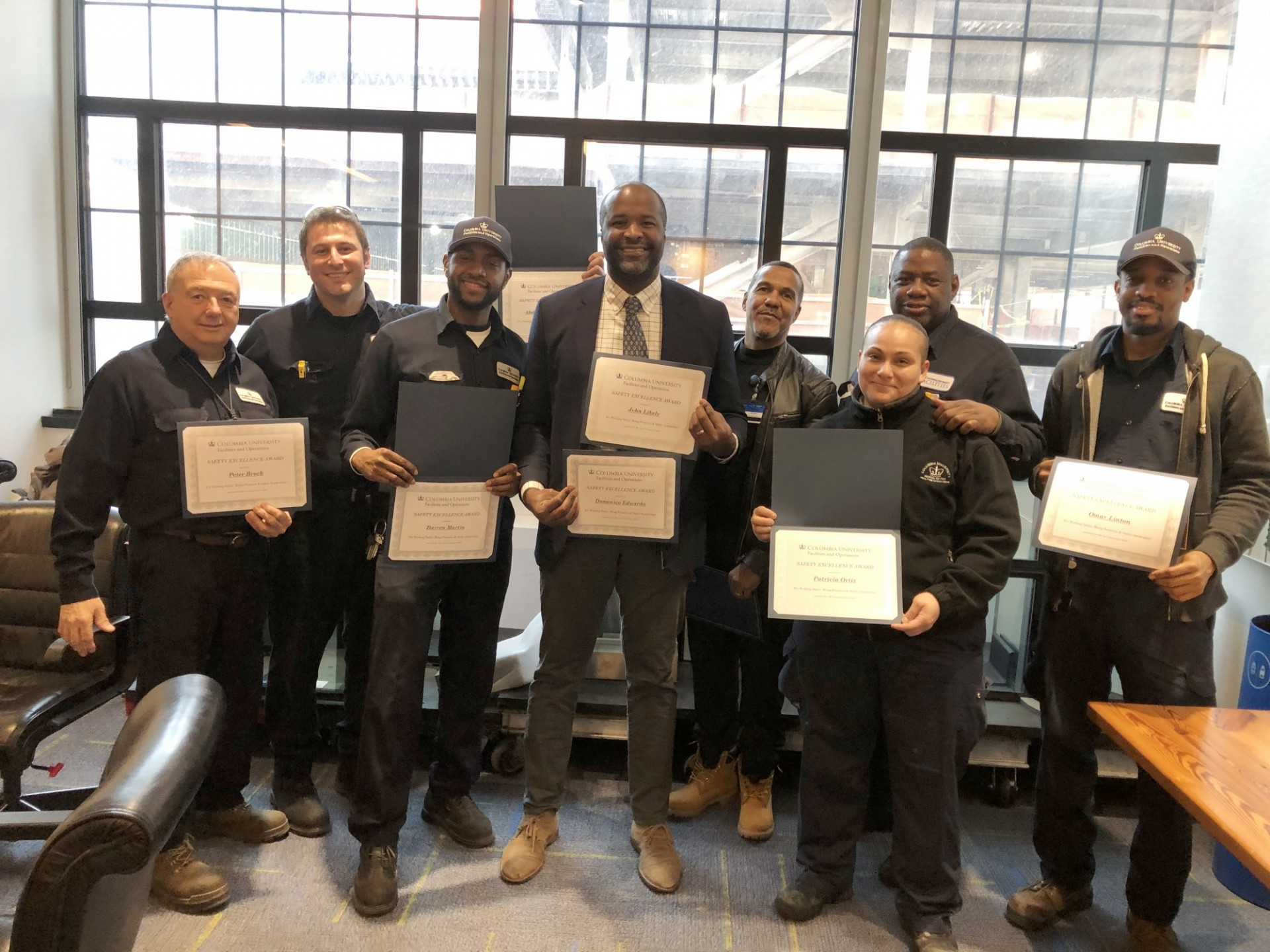 Honorees at the 2019 Safety Excellence Awards Ceremony at the Manhattanville Campus