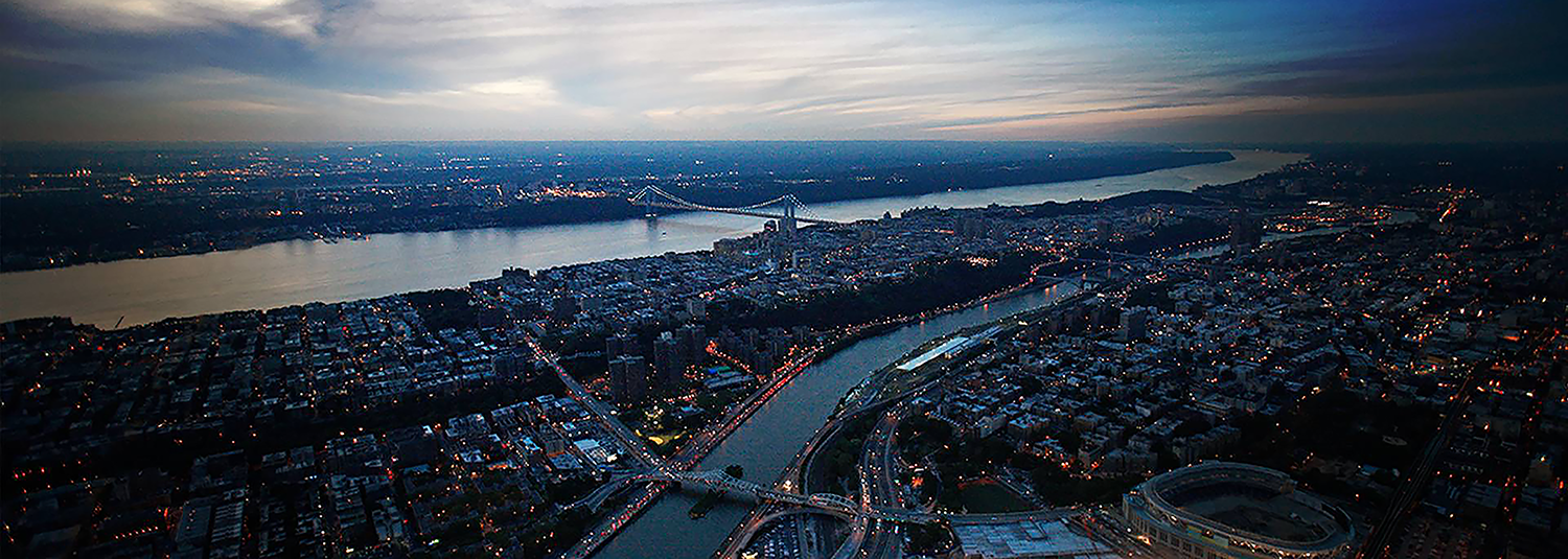 Aerial view of Upper Manhattan