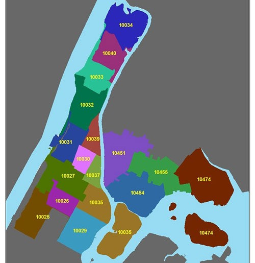 Map of eligible local zip codes